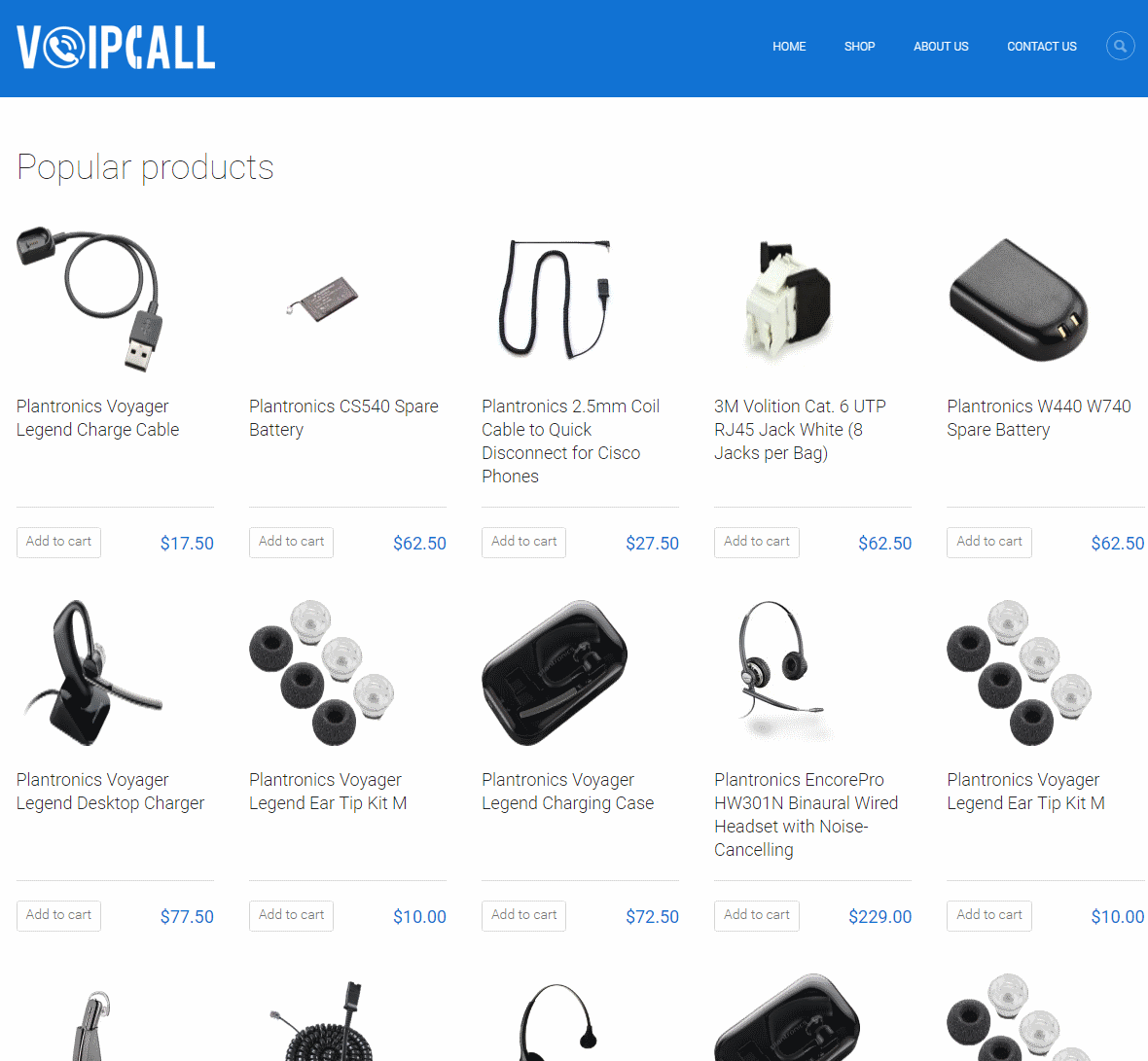 Our client VoipCall.co.nz website